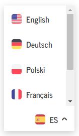 Selector de idioma que podemos traducir de WP Auto Translate Free