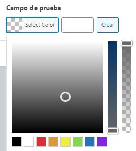 Selector de color de ACF RGBA Color Picker