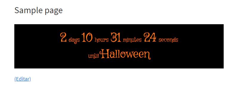 Cuenta atrás del plugin Halloween Countdown