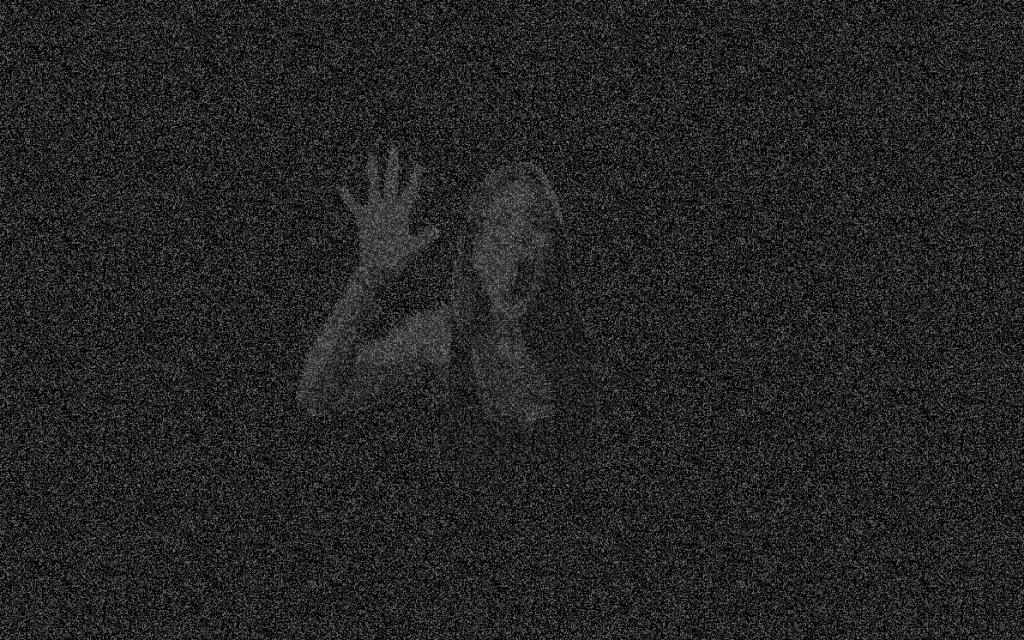 Ejemplo de la pantalla de terror que aparece con WPR Halloween Scare