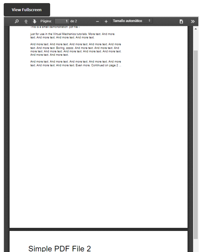 Visualización de PDF en PDF Poster